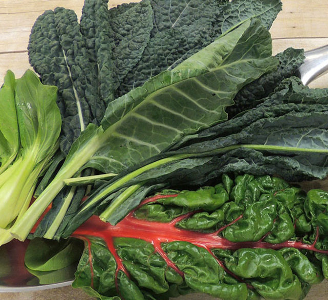 eating leafy greens