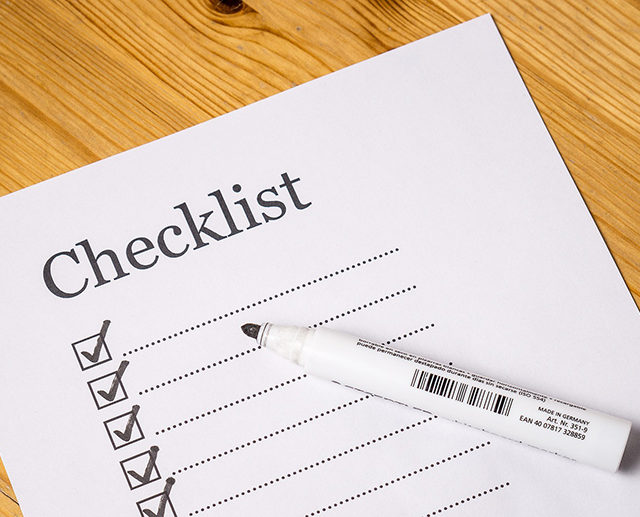 checklist for yor eye doctor appointment